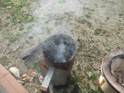 煙がもくもくでたよ